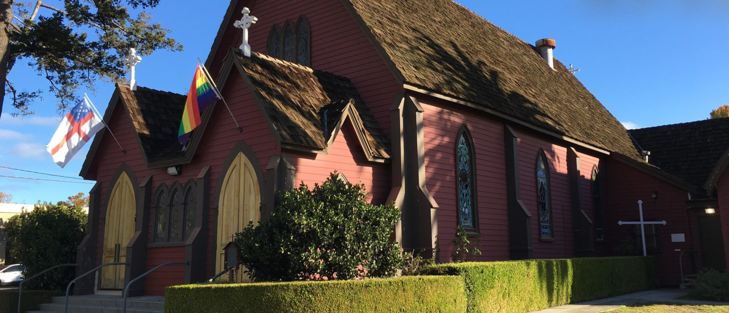 The Little Red Church in Downtown Santa Cruz